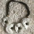 Anthropologie Jewelry | Beautiful Floral Necklace | Color: White | Size: Os