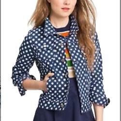 Kate Spade Jackets & Coats   Kate Spade Broome Street Denim Jacket   Color: Blue/White   Size: M