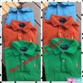 Polo By Ralph Lauren Shirts & Tops   Boys Polo Shirts By Ralph Lauren Size: 44t   Color: Green/Orange   Size: 4tb
