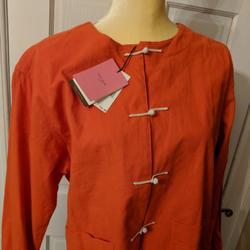 Kate Spade Jackets & Coats   Kate Spade Chinese Pajama Lounge Jacket   Color: Orange/Red   Size: L