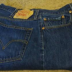 Levi's Jeans   38x32 Levis 501 Dark Blue Denim Jeans   Color: Blue   Size: 38