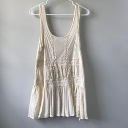 Free People Dresses | Free People Cream Eyelet Dress Or Swimsuit Coverup | Color: Cream | Size: S