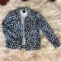 Kate Spade Jackets & Coats | Kate Spade Saturday White Poppy Floral Jacket | Color: Blue/White | Size: S