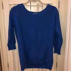 American Eagle Outfitters Sweaters | American Eagle Outfitters Blue 34 Sleeve Sweater | Color: Blue | Size: S