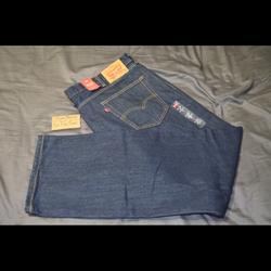 Levi's Jeans   Nwt Levis 505 Regular Fit 44x32 Blue Denim Jeans   Color: Blue   Size: 44