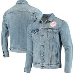 Levi's Jackets & Coats | Cool Levi'S New York Yankee Denim Baseball Jacket | Color: Blue | Size: L