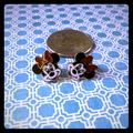 Disney Other | Disney Minnie Mouse Post Earrings Vintage | Color: Black/White | Size: Osg