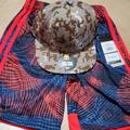 Adidas Bottoms   Adidas Shorts And Under Armour Hat   Color: Red/Tan   Size: 7b
