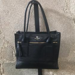 Kate Spade Bags | Black Leather Kate Spade Purse | Color: Black | Size: Approx 13 Long, 11 Tall, 5 Deep, Handle 11.5
