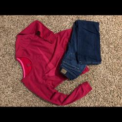 American Eagle Outfitters Other   American Eagle Jeans & Nike Sweatshirt   Color: black   Size: Ae Jeans Size-2, Nike Sweatshirt Size-S