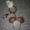 Disney Accessories | New Disney Parks Rose Gold Minnie Mouse Keychain | Color: Gold | Size: Os