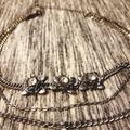 American Eagle Outfitters Jewelry | Short Chained Multi-Layer Necklace | Color: Silver/White | Size: Os