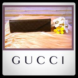Gucci Other | Authentic Gucci Eyeglass Case | Color: Brown | Size: L-6.25 In X H-2 In X W-2 In