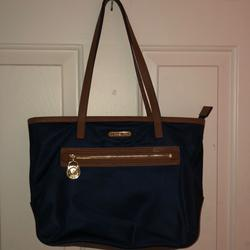Michael Kors Bags | Authentic Michael Kors Totebag! New Condition! | Color: Blue/Brown | Size: Medium Tote