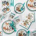 Creative Converting Wild One Woodland 1st Birthday Party Basic Paper Disposable TableclothPaper/Plastic in Green | Wayfair DTC5096E2B