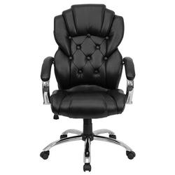 Flash Furniture Embroidered Executive ChairUpholstered in Black/Gray, Size 47.0 H x 26.25 W x 26.25 D in   Wayfair GO-908A-BK-EMB-GG