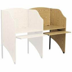 Flash Furniture Laminate Study Carrels Laminate/Metal, Size 49.63 H x 31.25 W x 23.75 D in | Wayfair MT-M6202-OAK-ADD-GG