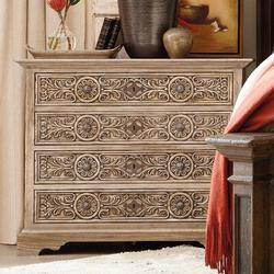 Hooker Furniture Hill Country Floresville 4 Drawer Nightstand Wood in Brown, Size 32.25 H x 39.0 W x 19.0 D in | Wayfair 5960-90017-MWD