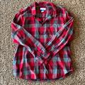 Columbia Shirts | Columbia Flannel Mens Button Down Shirt | Color: Gray/Red | Size: Xl