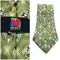 Disney Accessories | Mickey Mouse Tie Baseball Disney Goofy 4x60 | Color: Green | Size: 4x60