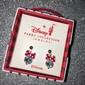 Disney Jewelry   New Disney Parks Diamond Minnie Mouse Bow Earrings   Color: Red/Silver   Size: Os