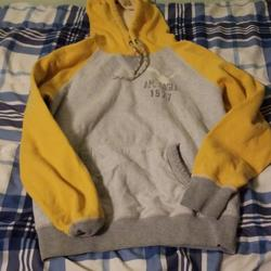 American Eagle Outfitters Shirts | Mens Sweatshirt | Color: Gray/Yellow | Size: S