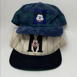 Disney Accessories   Lot Of 2 Mickey Mouse Hats Vintage Hype Usa   Color: Blue   Size: Os