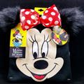 Disney Accessories | Disney Minnie Mouse Beanie W Changeable Pom Ears! | Color: Black | Size: Juniorswomen - One Size