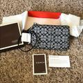 Coach Bags | Coach Signature Collection Wristlet New In Box | Color: Black/White | Size: Os