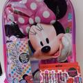 Disney Accessories   Minnie Mouse Backpack 3 Pc Set Crayons Tin Case   Color: Pink/Purple   Size: Osg