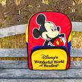 Disney Accessories | Disneys Wonderful World Of Reading Youth Backpack | Color: Gold/Red | Size: Osb