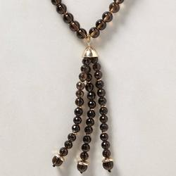 Anthropologie Jewelry | Anthropologie Long Beaded Necklace Zilia Tassel | Color: Brown/Gold | Size: Os