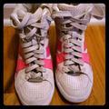 Coach Shoes | Coach Sky High Gym Shoes | Color: Cream/Pink | Size: 7