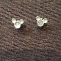 Disney Jewelry | Mickey Mouse Post Earrings. | Color: Silver | Size: Os