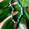 Anthropologie Jewelry | Gorgeous Boho Natural Turquoise Stone Necklace | Color: Blue/Green | Size: Os