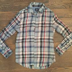 American Eagle Outfitters Shirts   Mens America Eagle Cotton Button Down   Color: Blue/Red   Size: S