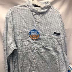 Columbia Shirts | Columbia Pfg Mens Super Tamiami Ls | Color: Blue/Green | Size: Various