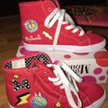 Disney Shoes | Disney Minnie Mouse High Top Tennis Shoes Red | Color: Red | Size: 5.5