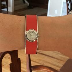 Coach Accessories | Coach Womens Scout Bangle Watch In Orange | Color: Orange | Size: Os