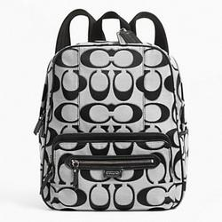 Coach Bags | Coach Daisy Outline Signature Metallic Backpack | Color: Black/Silver | Size: Os