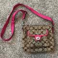 Coach Bags | Coach Crossbody Signature Slingback Bag | Color: Brown/Pink | Size: Os