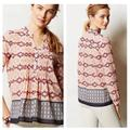 Anthropologie Tops | Hd In Paris Anthro Kaveri Henley Pintuck Blouse | Color: Blue/Pink | Size: 4