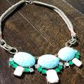 Anthropologie Jewelry | Anthropologie Stone Necklace | Color: Blue/Green | Size: Os