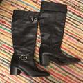 Coach Shoes   Coach Black Leather Knee High Boots Size 8   Color: Black   Size: 8