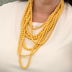 Anthropologie Jewelry | Layered Yellow Statement Necklace | Color: Yellow | Size: Os