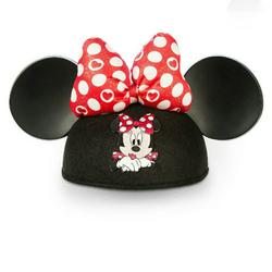 Disney Accessories   Minnie Mouse Ear Hat- Valentine'S Day   Color: Black/Red   Size: Minnie Mouse Ears Felted Cap
