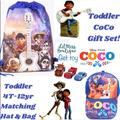 Disney Accessories | 1 Left Coco Baseball Hat & Mini Backpack+Gift | Color: Blue/White | Size: Osb