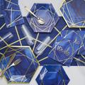 Creative Converting Foil Party Basic Paper Party Supplies KitPaper/Plastic in Blue | Wayfair DTC5098E2B