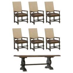 Hooker Furniture Hill Country Extendable Dining Table Wood in Black/Brown, Size 30.0 H in | Wayfair 5960-75200-BRN