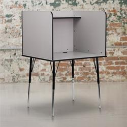 Flash Furniture Laminate Adjustable Height Study CarrelLaminate/Metal, Size 53.5 H x 35.75 W x 30.0 D in   Wayfair MT-M6221-GREY-GG